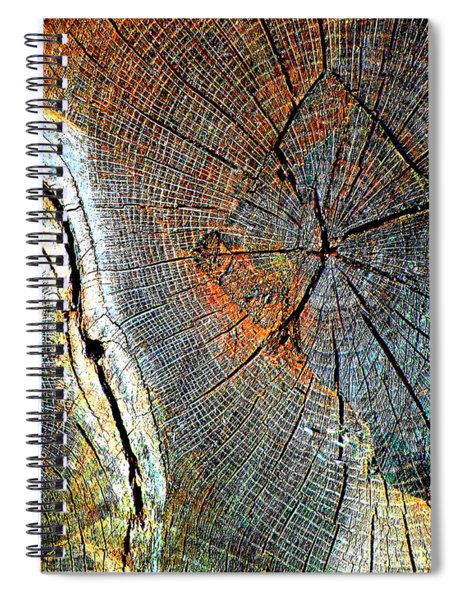 Wood Age Cut Wood Spiral Notebook