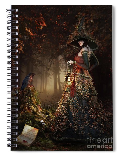 Wood Witch Spiral Notebook