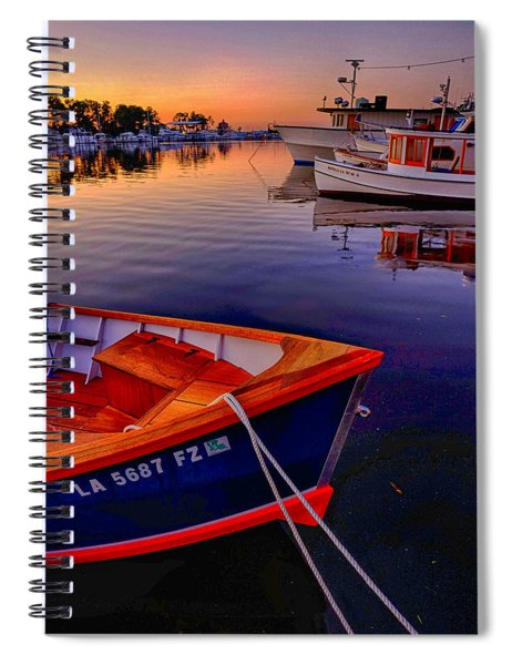 Wooden Boats Spiral Notebook