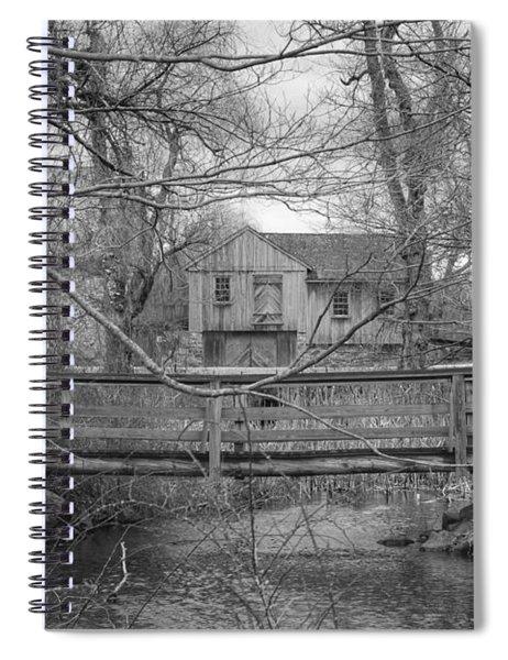 Wooden Bridge Over Stream - Waterloo Village Spiral Notebook