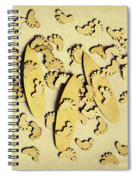 Wooden Wave Riders Spiral Notebook