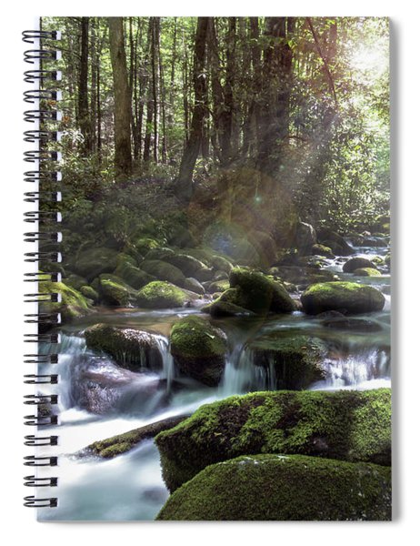 Spiral Notebook featuring the photograph Woodland Falls by Patti Deters