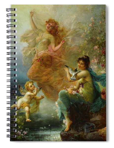 Woodland Nymphs By A Stream Spiral Notebook