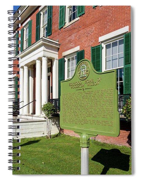 Woodrow Wilson Boyhood Home - Augusta Ga 1 Spiral Notebook