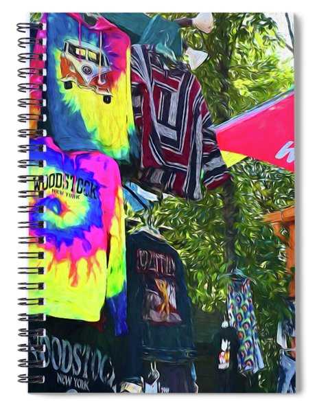 Woodstock Peace And Love 1 Spiral Notebook
