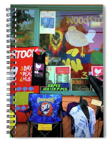 Woodstock Peace And Love 3 Spiral Notebook