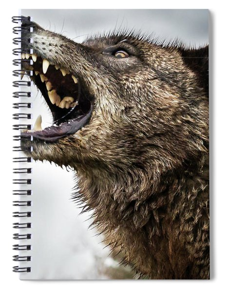 Woof Wolf Spiral Notebook