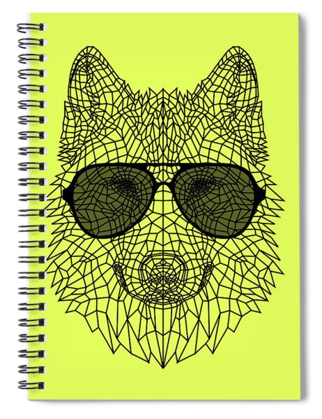 Woolf In Black Glasses Spiral Notebook