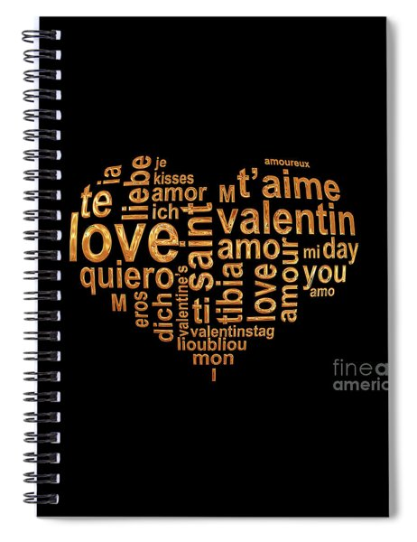 Words Of Love Spiral Notebook