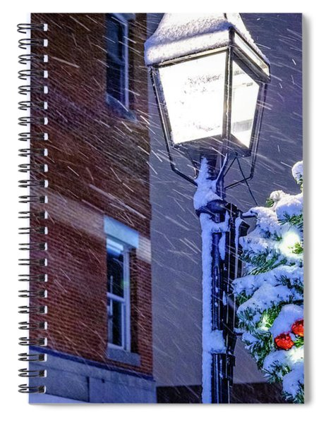 Wreath On A Lamp Post Spiral Notebook