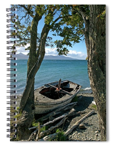Wrecked Boat Patagonia Spiral Notebook