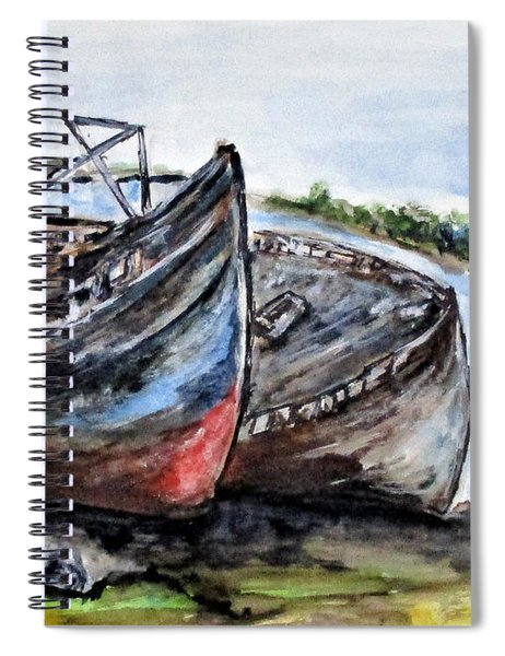 Wrecked River Boats Spiral Notebook