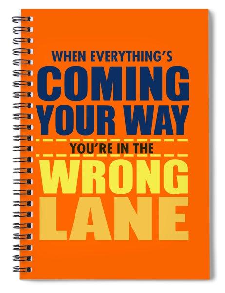Wrong Lane Spiral Notebook