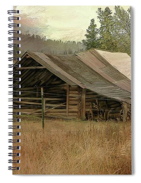 Wyoming Country Barn Spiral Notebook