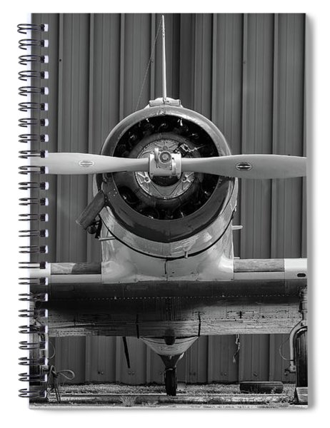 Yale Against A Hangar Door Spiral Notebook