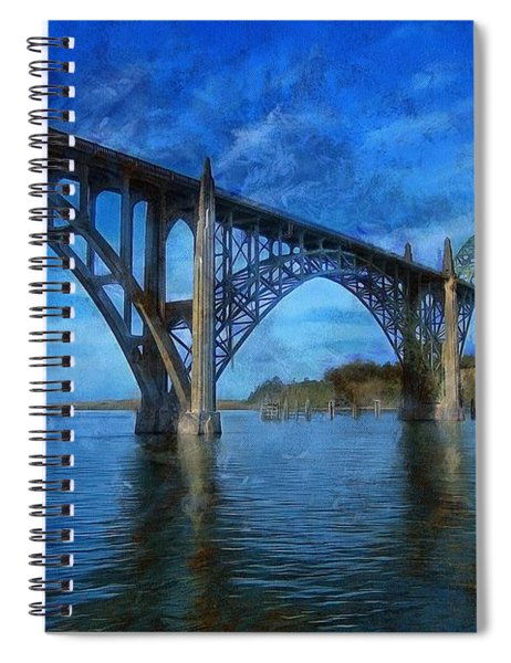 Yaquina Bay Bridge From South Beach Spiral Notebook