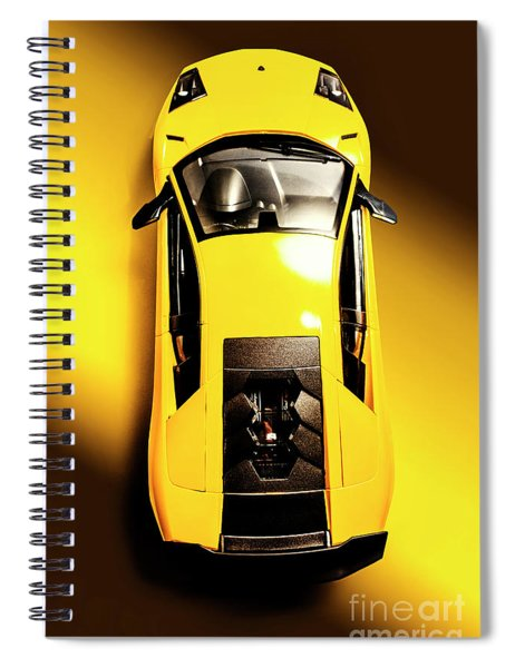 Yellow And Black Spiral Notebook