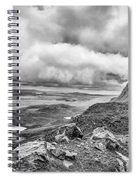 Yellow Autumn Panoramic Bw #i1 Spiral Notebook