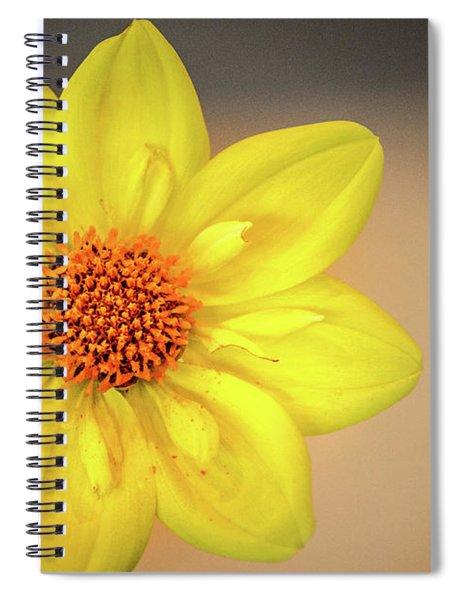 Yellow Dahlia Spiral Notebook
