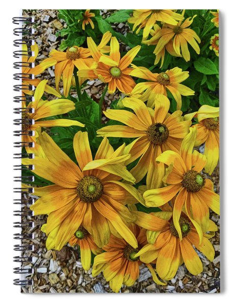 Yellow In Bloom Spiral Notebook