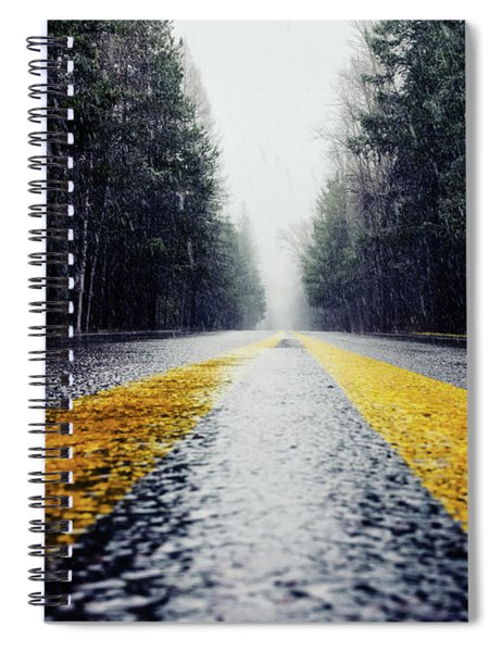 Yellow Lines Spiral Notebook