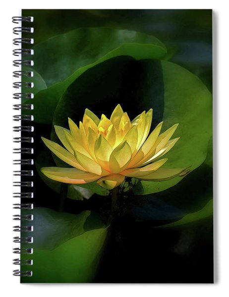 Spiral Notebook featuring the photograph Yellow Lotus by Patti Whitten