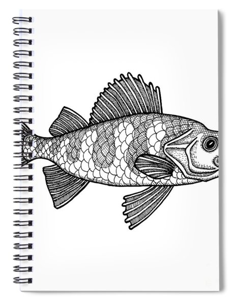 Yellow Perch Spiral Notebook