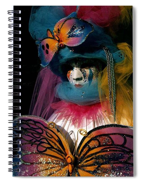 Yellow Pink Blue Butterfly Spiral Notebook