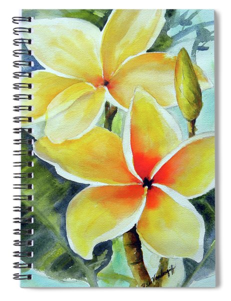 Yellow Plumeria Spiral Notebook