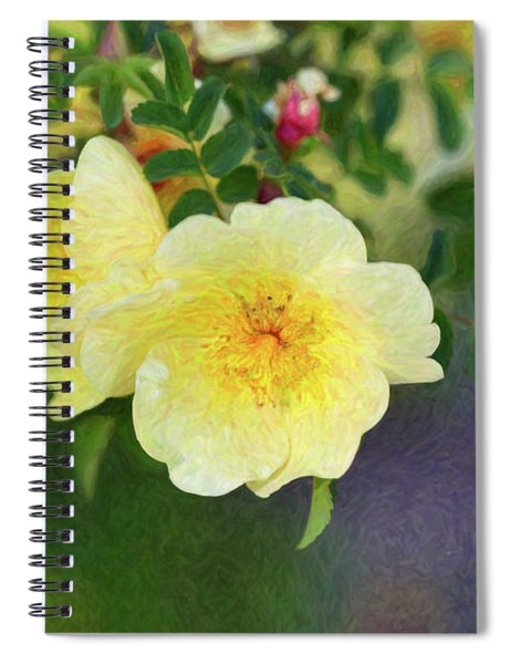 Yellow Rose - Blending Dreams - By Omaste Witkowski Spiral Notebook