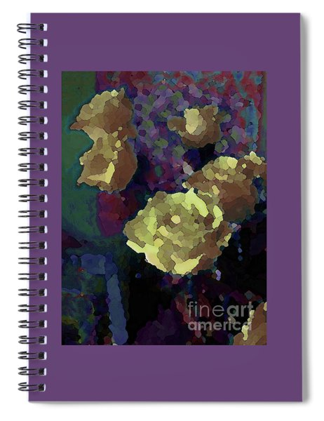 Yellow Roses Venturing Out Spiral Notebook