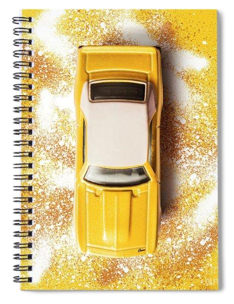 Yellow Street Machine Spiral Notebook