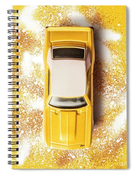 Yellow Street Machine Spiral Notebook