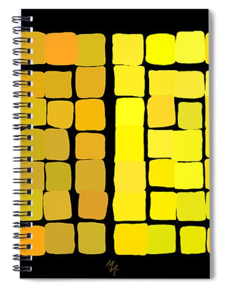 Yellow Triptych Spiral Notebook