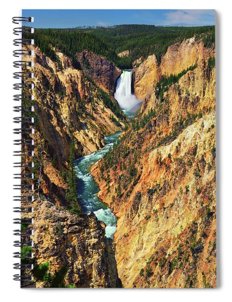 Yellowstone Grand Canyon From Artist Point Spiral Notebook