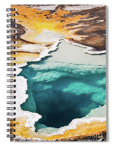 Yellowstone Hot Spring Vertical Spiral Notebook