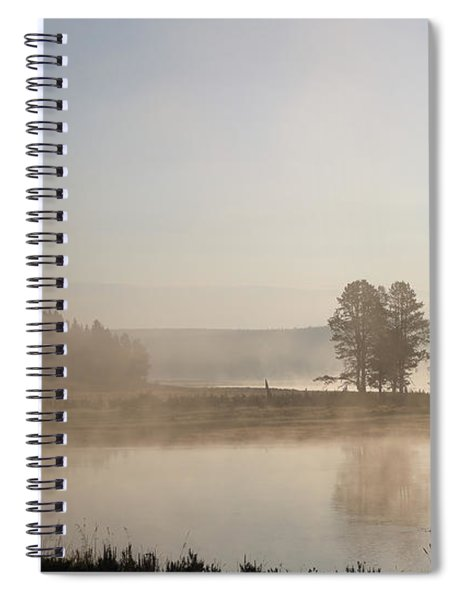 Yellowstone River Early Morning Spiral Notebook