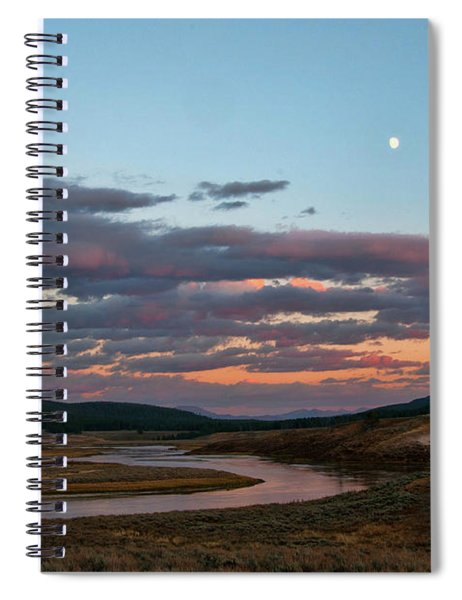 Yellowstone River In Hayden Valley Spiral Notebook