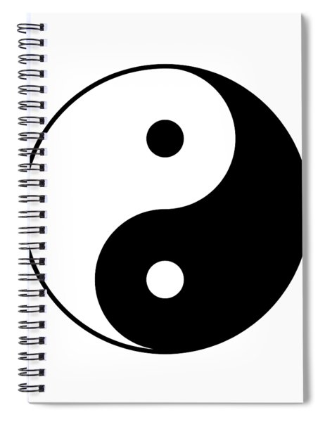 Yin And Yang Spiral Notebook