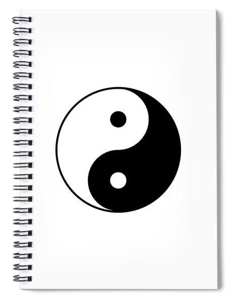 Yin And Yang Spiral Notebook
