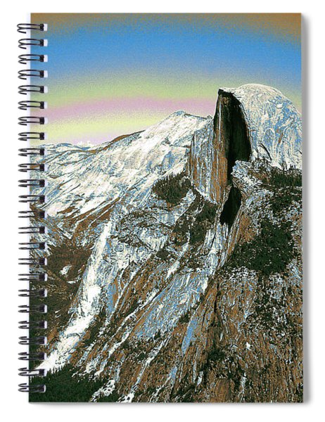 Yosemite Half Dome 2000 - Digital Artwork Spiral Notebook