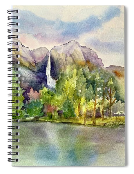 Yosemite Waterfalls Spiral Notebook