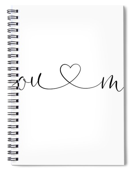 You And Me Black And White Spiral Notebook
