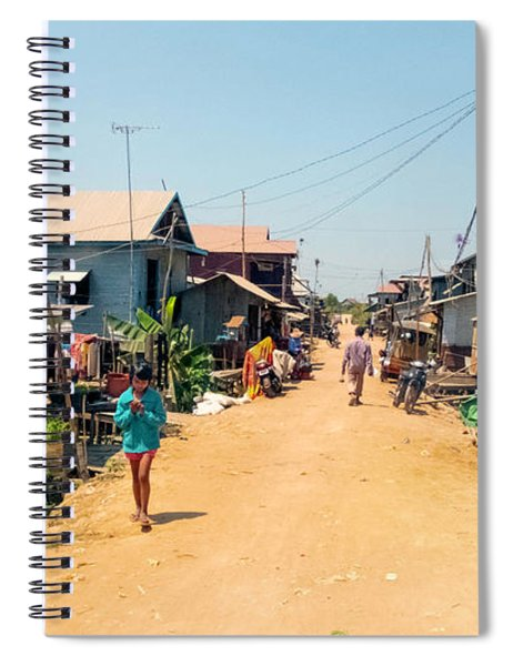 Young Girl - Houses On Stilts - Siem Reap, Cambodia Spiral Notebook