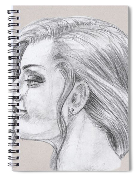 Young Woman Head Study Profile Spiral Notebook