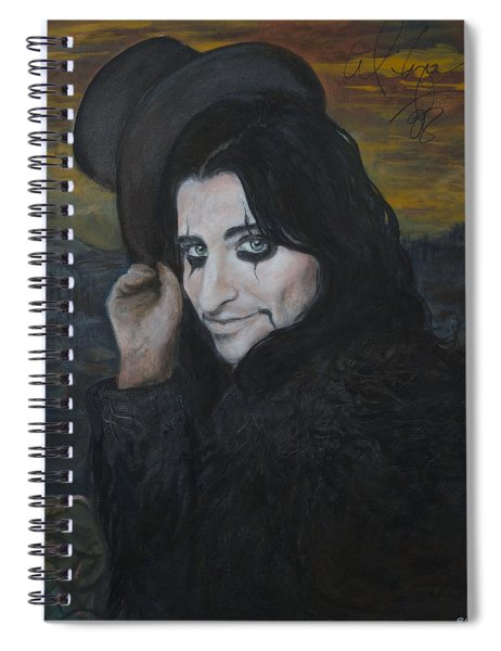younger Alice Cooper Spiral Notebook