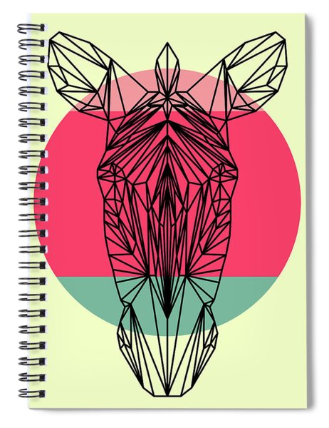 Zebra And Sunset Spiral Notebook