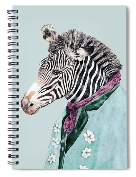 Zebra Blue Spiral Notebook