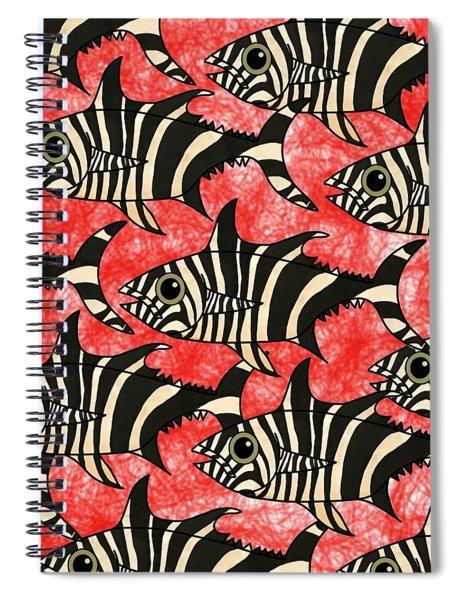 Zebra Fish 5 Spiral Notebook
