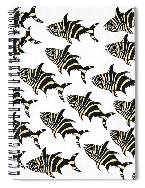 Zebra Fish 7 Spiral Notebook